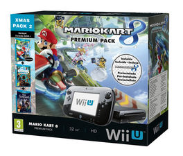 CONSOLA WII U NEGRA 32GB XMAS PACK 2 +MK8 + CROODS + RISE OF GUARDIANS