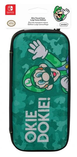 FUNDA SLIM TRAVEL CASE EDICION LUIGI CAMO - SWITCH